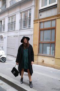 manteau noir oversize Grace&Mila parisgrenoble