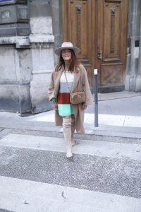manteau camel oversize H&M parisgrenoble