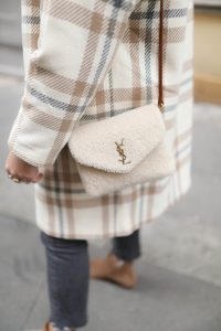 sac loulou toy shearling YSL parisgrenoble