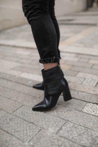 boots cuir tressé noir parisgrenoble