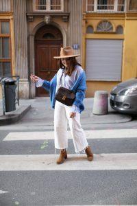 blouse rayée bleue Mode in Elo parisgrenoble