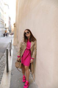 robe rose na-kd fashion parisgrenoble