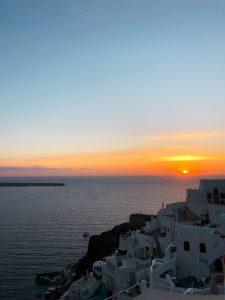 coucher de soleil oia parisgrenoble