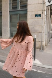 robe rose à pois asos parisgrenoble