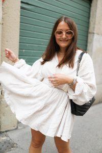robe blanche H&M parisgrenoble