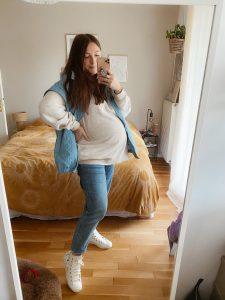 mes jeans de grossesse Parisgrenoble blog mode lyon