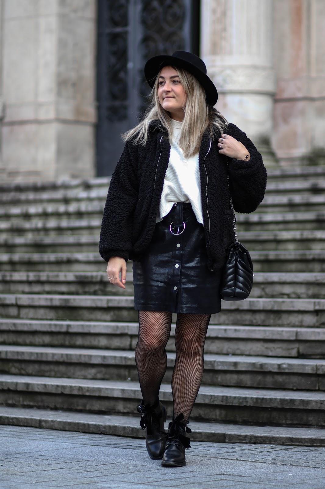 jupe simili cuir noire parisgrenoble