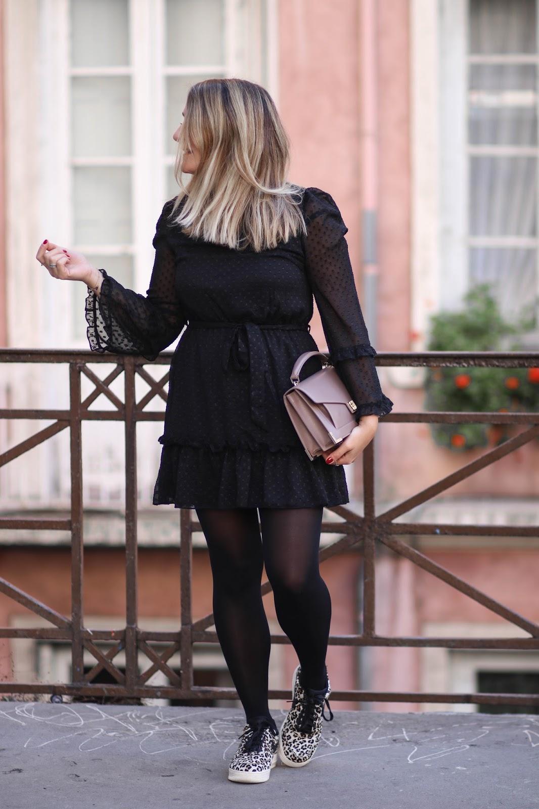 robe noire plumetis newlook parisgrenoble