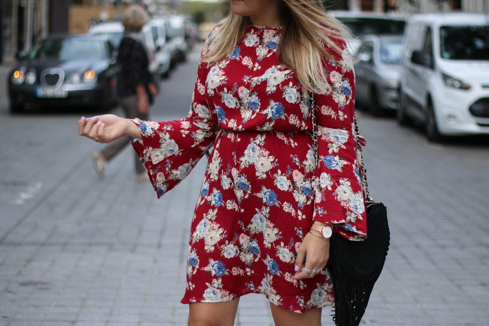 robe rouge à fleurs parisgrenoble