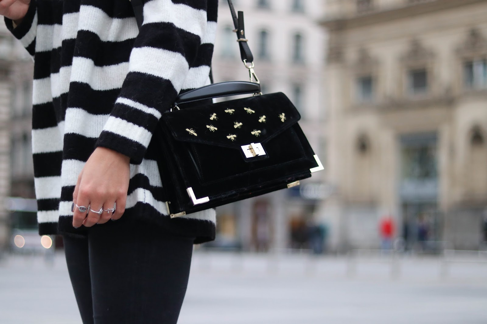sac emily the kooples velours noir parisgrenoble