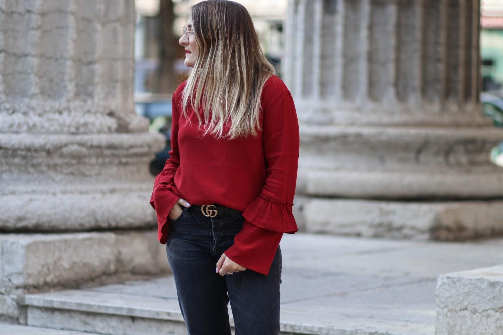 blouse rouge promod parisgrenoble