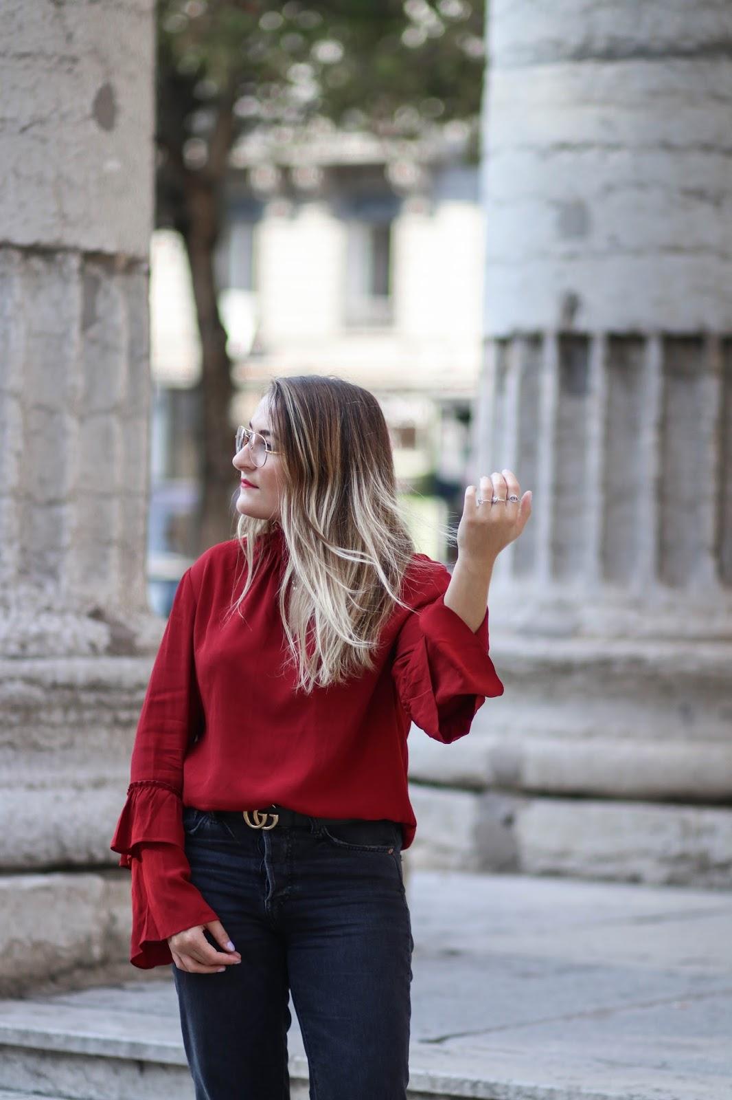blouse rouge parisgrenoble